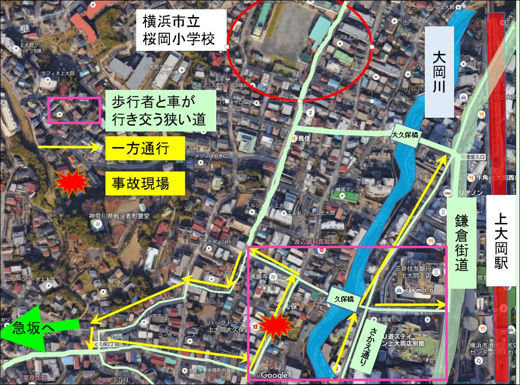 kamioooka-road-map